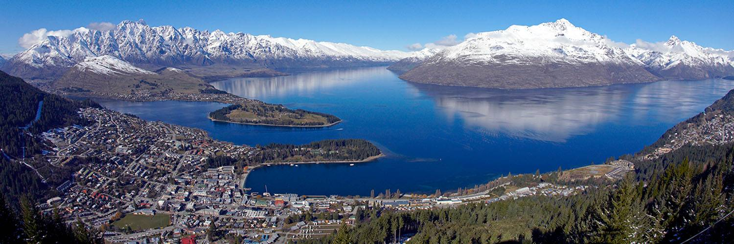 View of Queenstown and waterfront